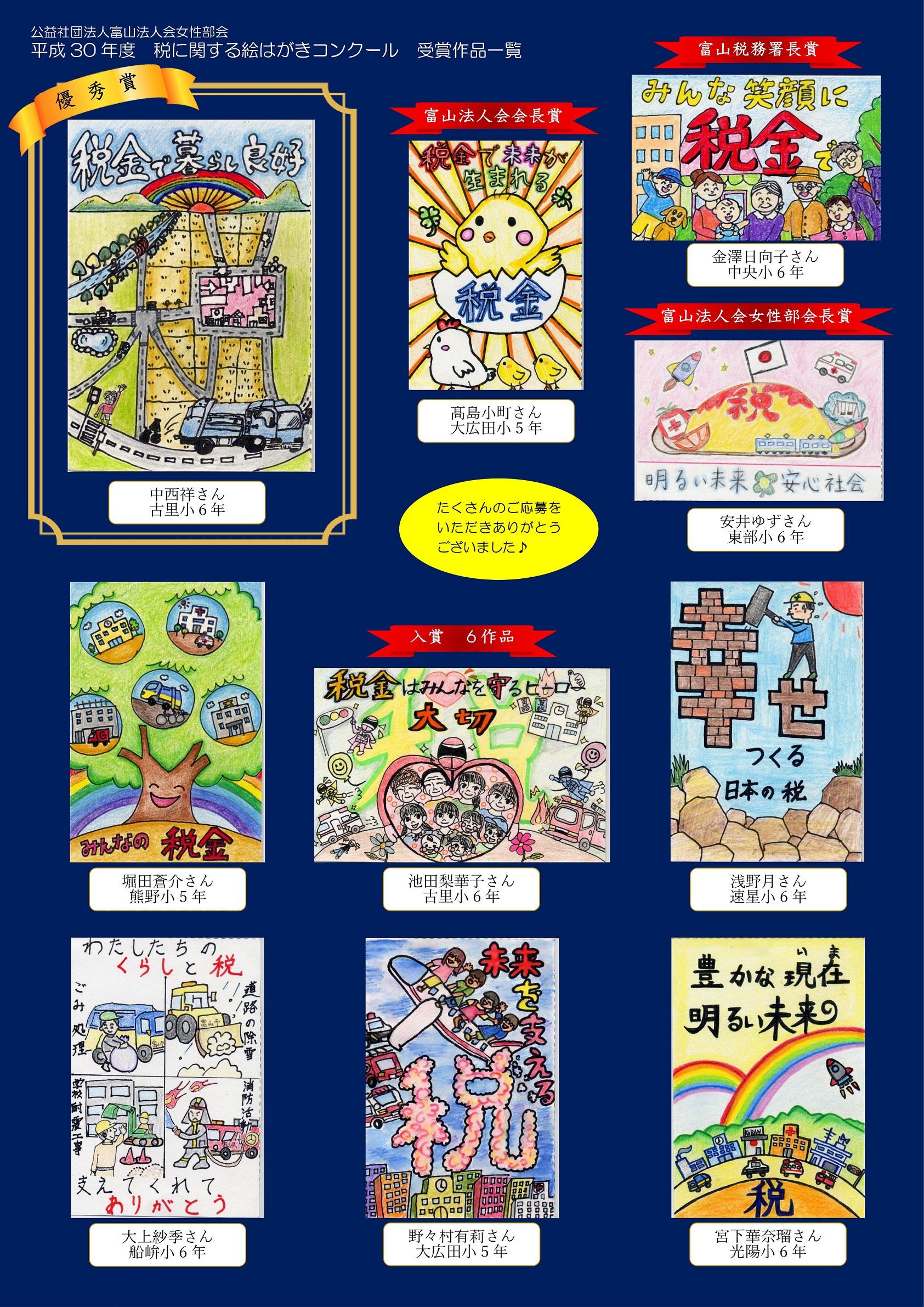 平成30年度絵はがきコンクール結果(富山)